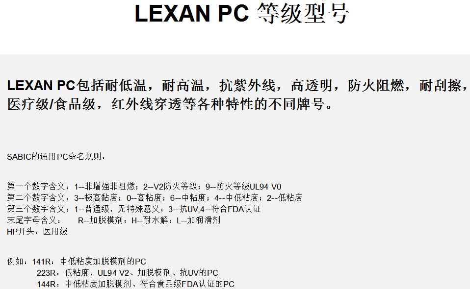 PC EXL1463T沙比克SABIC聚碳酸脂耐寒系列_价格_物性_图片_UL黄卡